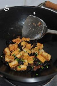 香菇醬炒豆腐黑木耳的做法圖解6