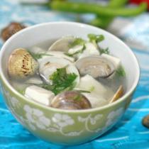 豆腐蛤蜊湯的做法
