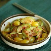魚醬炒白果西葫蘆的做法