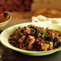 梅乾菜香菇蒸排骨的做法