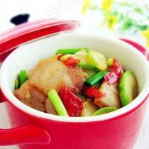 剁椒五花肉炒西葫蘆的做法