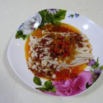 剁椒紅油金針菇
