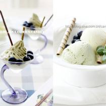 香草抹茶冰淇淋