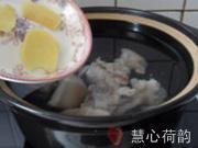 雙色杏仁豬蹄湯的做法圖解14
