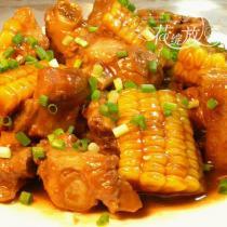 紅燒玉米排骨的做法