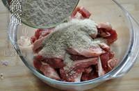 玫瑰腐乳粉蒸肉的做法圖解3