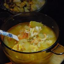 瑤柱咸蛋節瓜湯