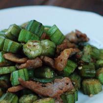 黃秋葵炒肉